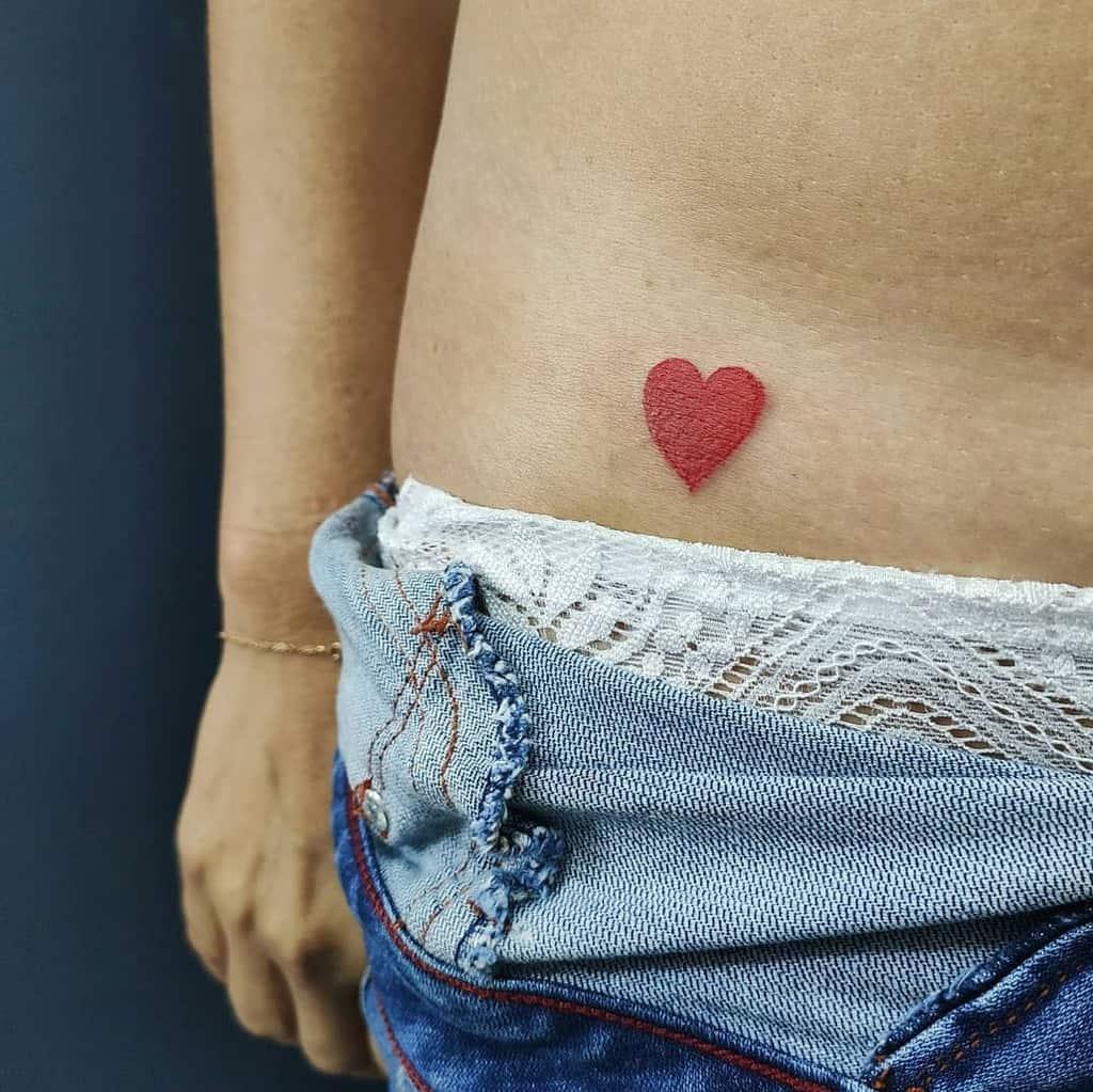 Small and Tiny heart tattoo nat.longhi