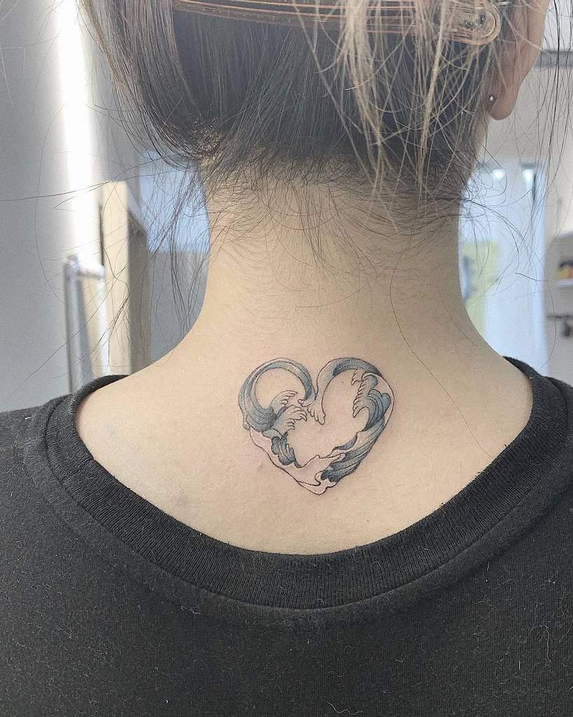 Small and Tiny heart tattoo panda7tattoo