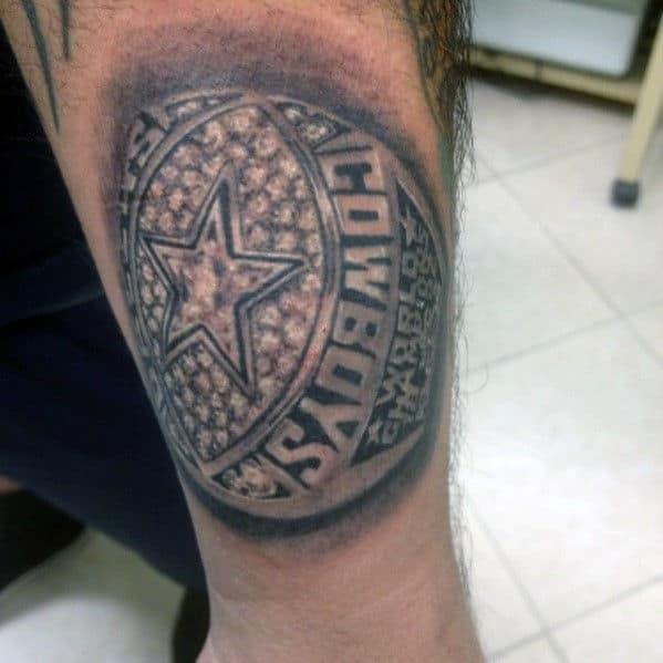 Nfl Championship Ring Mens Dallas Cowboys Arm Tattoo