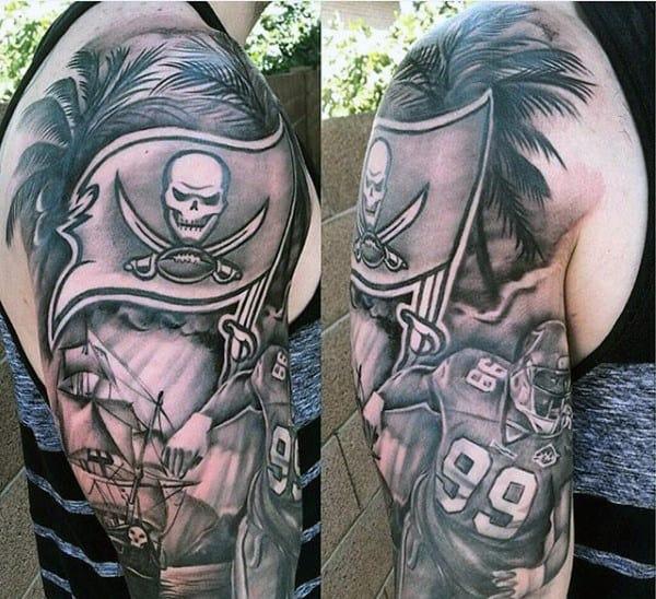 Nfl Mens Football Half Sleeve Tattoo Designs