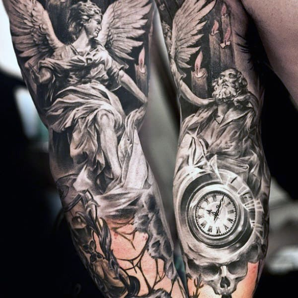 6decc8f1e 75 Remarkable Angel Tattoos For Men - Ink Ideas With Wings