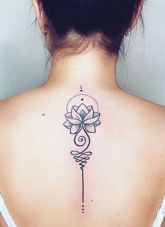 Nice Art Spine Unalome Tattoo