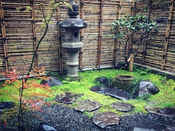 Nice Bamboo Fence Backyard Ideas