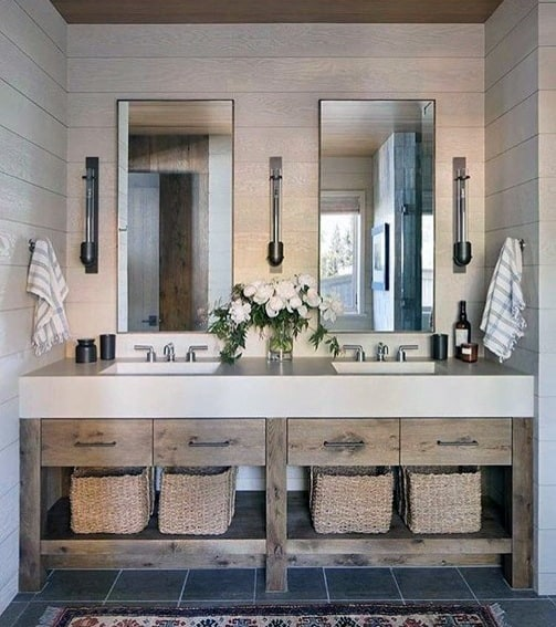Nice Bathroom Vanity Interior Ideas