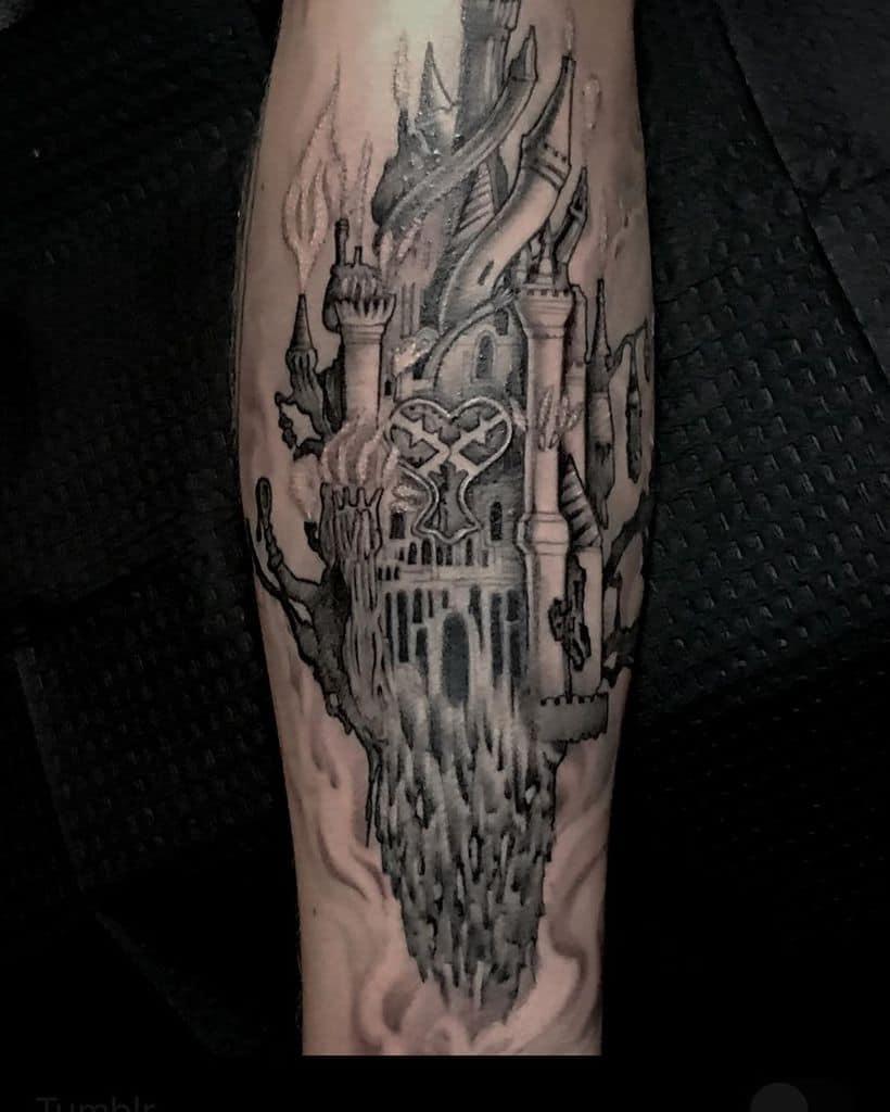 Nice Black Art Kingdom Hearts Tattoo