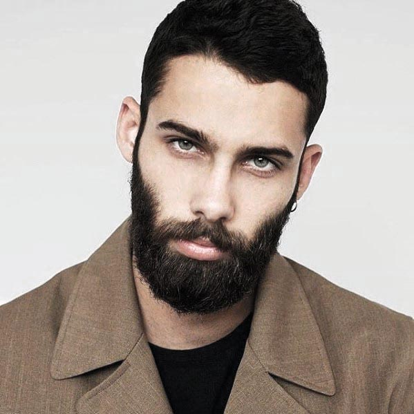 Nice Black Short Haircuts With Beard Styles For Males