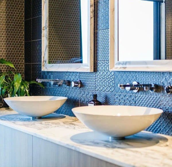 Nice Blue Bathroom Interior Ideas