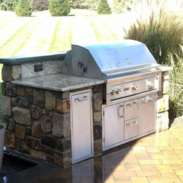 Nice Built In Grill Backyard Ideas