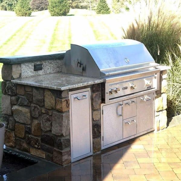 Nice Built In Grill Backyard Ideas