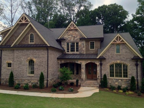Top 50 best brick and stone exterior ideas cladding designs - Exterior brick wall design ideas ...