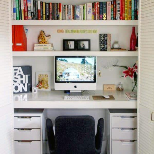 Nice Closet Office Interior Ideas