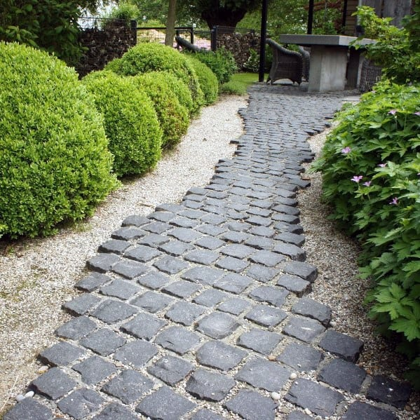Nice Cobblestone Walkway Exterior Ideas