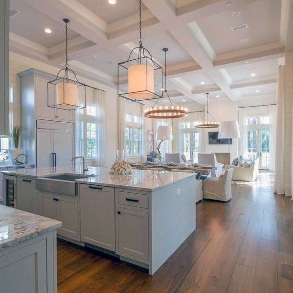 Nice Coffered Ceiling Interior Kitchen Design Ideas