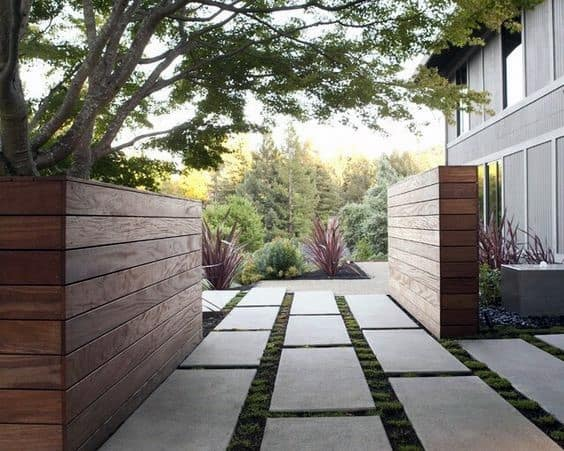 Nice Concrete Driveway Front Yard Ideas