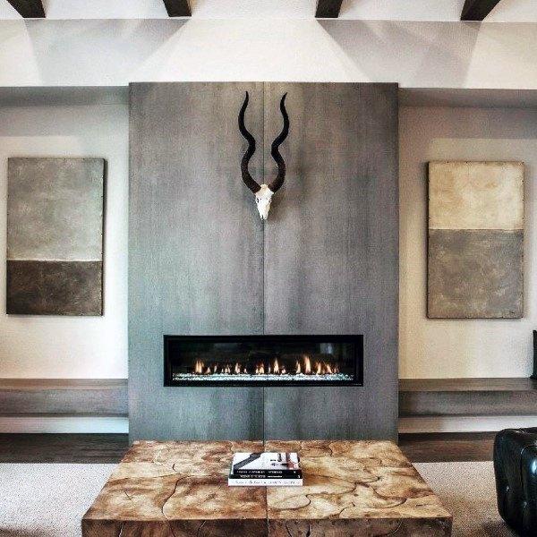 Nice Concrete Fireplace Design Ideas