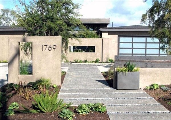 Nice Concrete Walkway Exterior Ideas