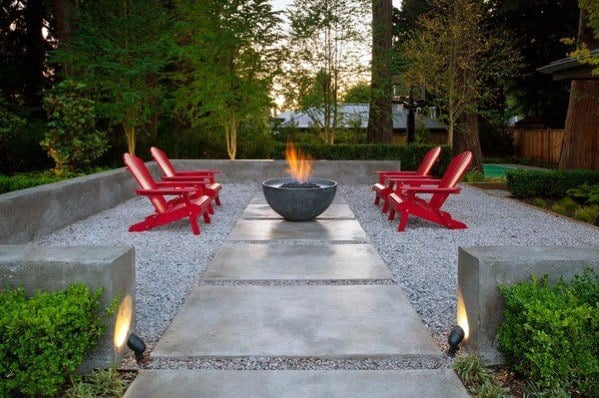 Nice Contemporary Gravel Patio Backyard Ideas