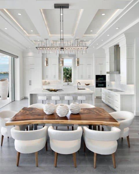 Nice Crown Molding Lighting Interior Ideas Contemporary Kitchen