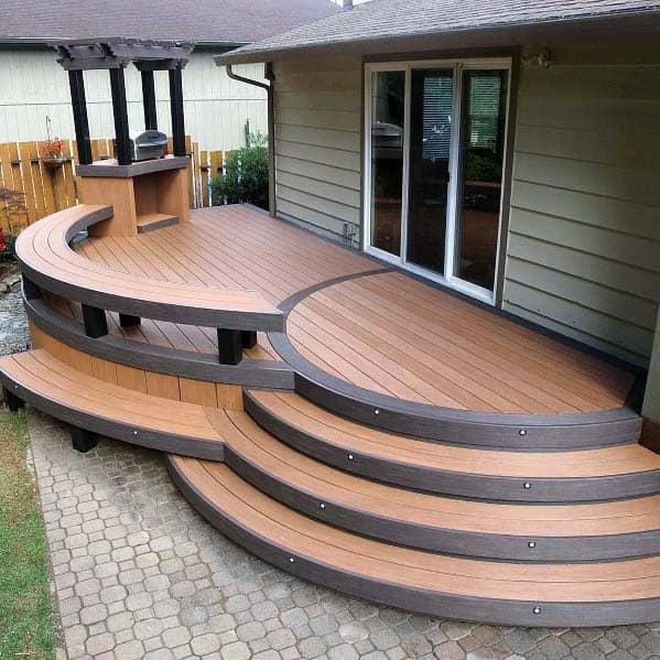 Nice Deck Bench Backyard Ideas