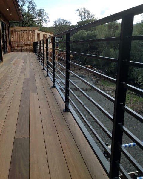 Nice Deck Railing Backyard Ideas