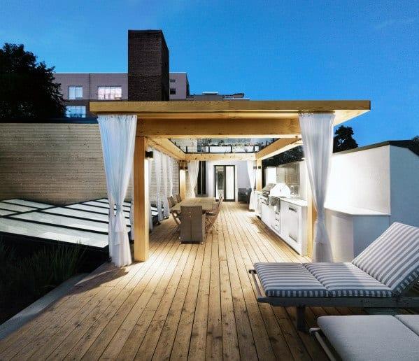 Nice Deck Roof Backyard Ideas
