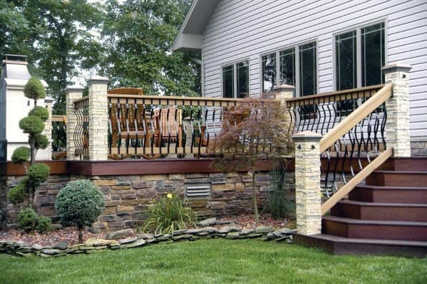 Nice Deck Skirting Backyard Ideas