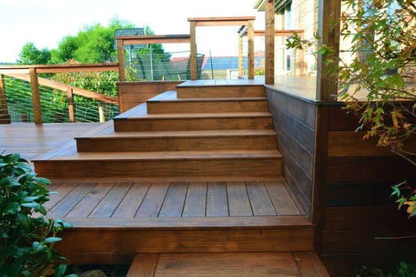 Nice Deck Steps Backyard Ideas