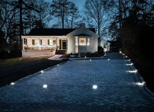 Nice Driveway Lighting Exterior Ideas