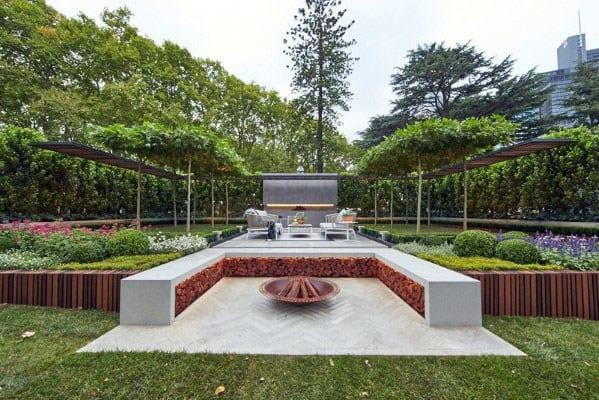 Nice Fire Pit Seating Backyard Ideas