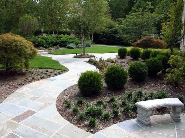 Nice Flagstone Walkway Outdoor Ideas