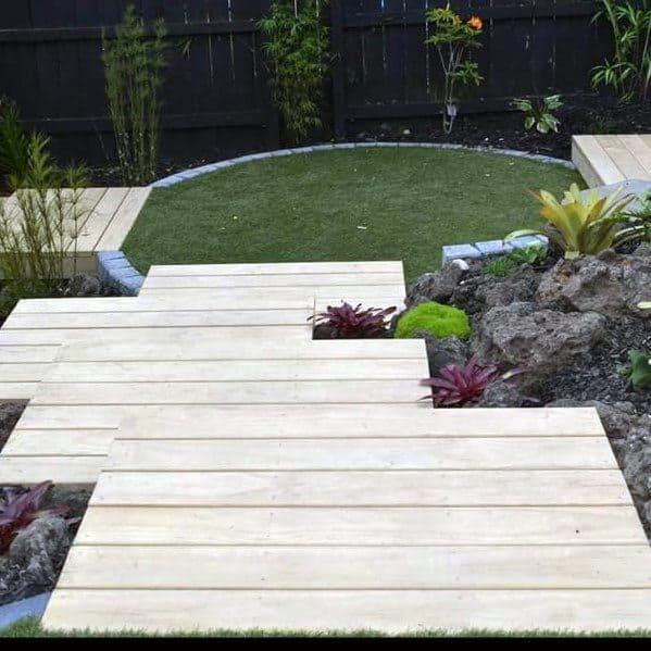 Nice Floating Deck Backyard Ideas