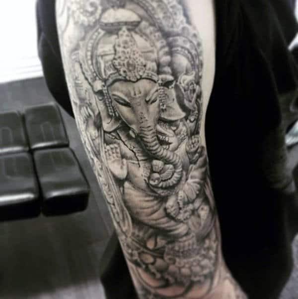 96a5df45c 90 Ganesh Tattoo Designs For Men - Hindu Ink Ideas