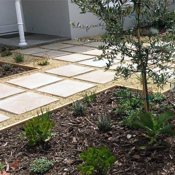 Nice Gravel Walkway Backyard Ideas Stepping Stones