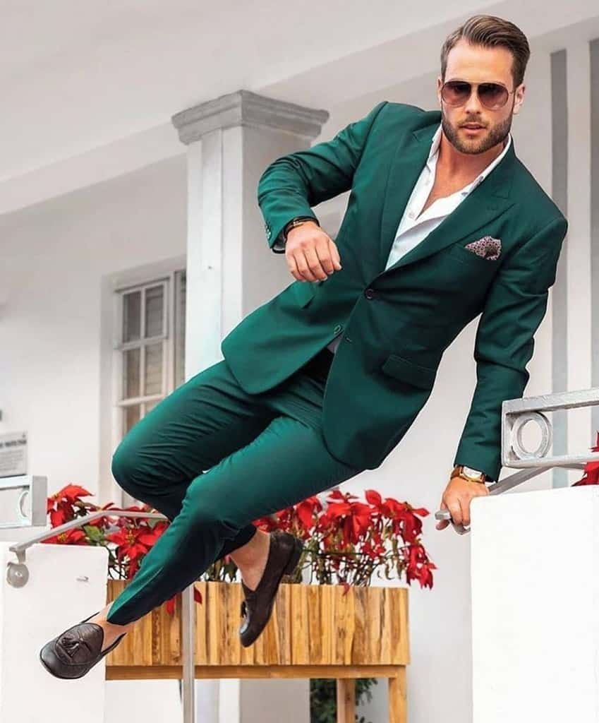 Nice Green Suit Mens Wear