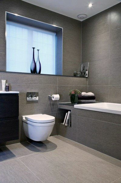Nice Grey Bathroom Tile Interior Ideas