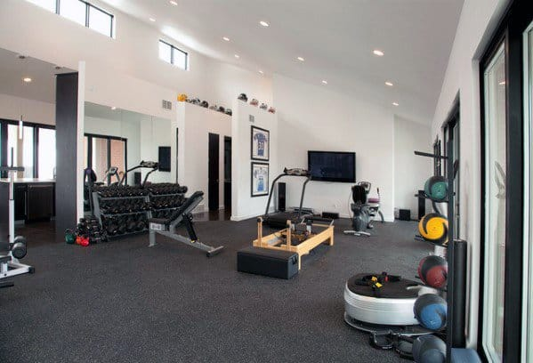 Nice Home Gym Flooring Interior Ideas