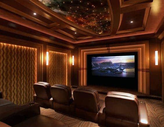 Nice Home Theater Lighting Interior Ideas