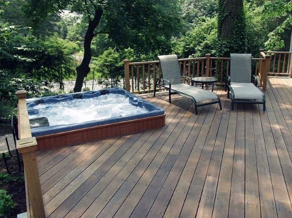 Nice Hot Tub Deck Backyard Ideas