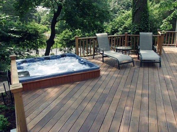 Nice Hot Tub Deck Backyard Ideas