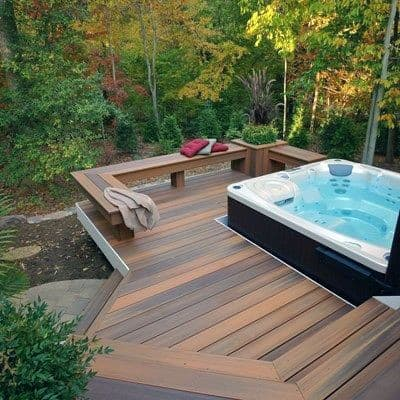 Nice Hot Tub Deck Outdoor Ideas For Backyard