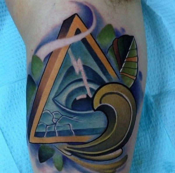 Nice Illuminati Tattoo Male Hands