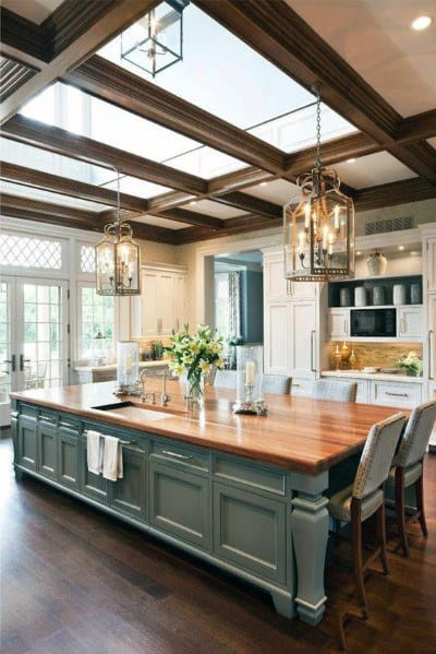 Nice Kitchen Ceiling Interior Ideas