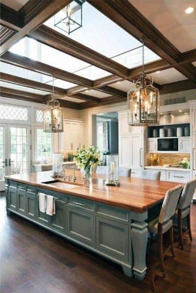 Interior Design Girls Kitchen: Top 75 Best Kitchen Ceiling Ideas
