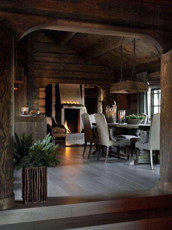 Nice Log Cabin Interior