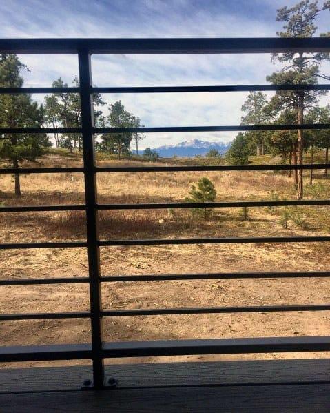 Nice Metal Deck Railing Backyard Ideas