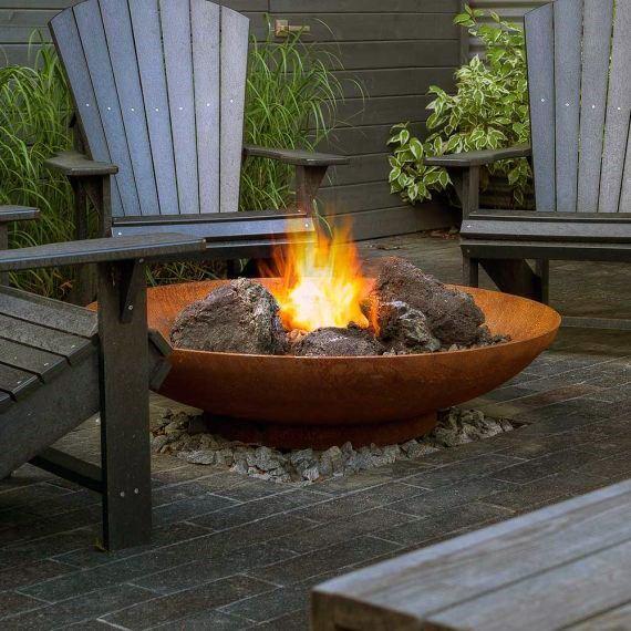 Nice Metal Fire Pit Backyard Ideas