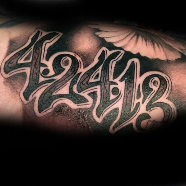Number tattoo designs for men