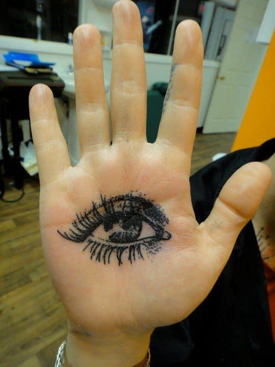 Nice Palm Eye Tattoo