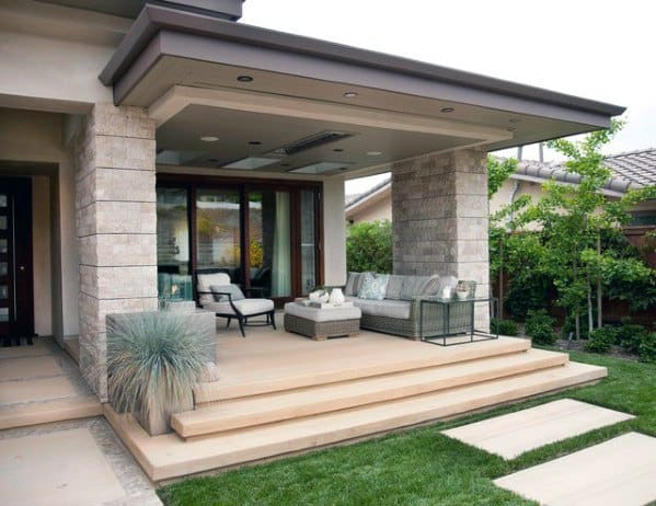 Nice Patio Roofing Exterior Ideas