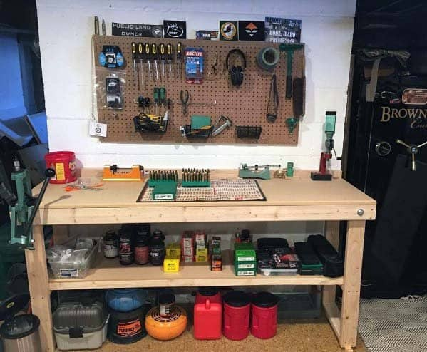 Nice Reloading Bench Interior Ideas